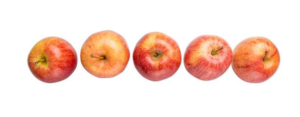 Royal gala apple on white background
