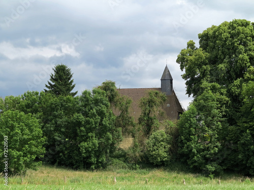 canvas print picture Kirche in Aerzen-Reher
