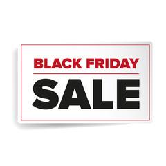 Black Friday sales label