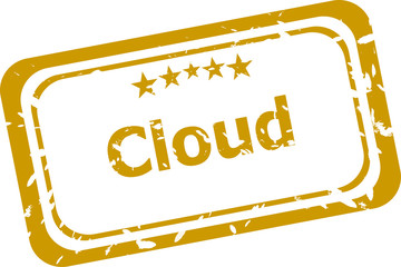 abstract cloud on red stamp signs, web symbols and icons