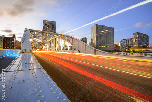 Fotobehang Tokyo Tokyo, Japan Traffic Cityscape