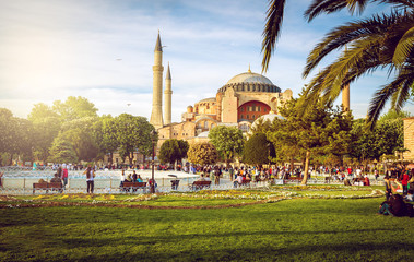 Hagia Sophia and people around