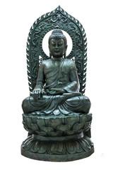 Buddha statue on white isolate