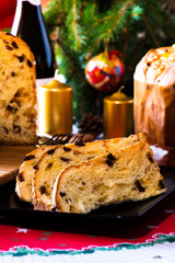 Panettone italian typical christmas cake