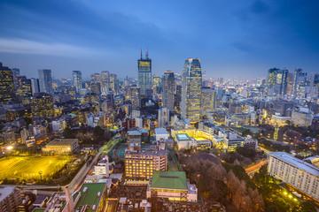 Tokyo, Japan Minato Ward Cityscape
