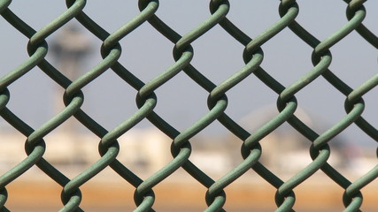Airport Control Tower Fence