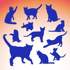 Cat silluette illustration 2
