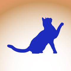Cat silluette illustration 3