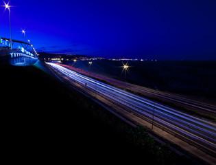 motorway for Las Palmas at night