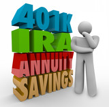401K IRA Annunity Savings Investment Options Thinking Person Con poster
