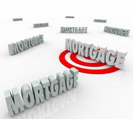 Mortgage Word Targeting Best Loan Option Lender Lowest Interest