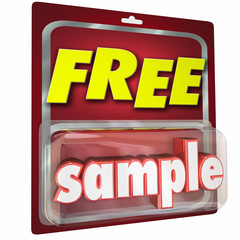 Free Sample Package Complimentary Trial Product Size Example 3d