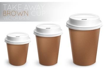 Take away paper cup brown
