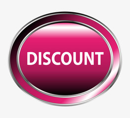 Discount button vector