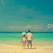 Vintage beach couple