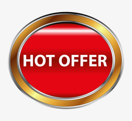 Hot offer icon button set