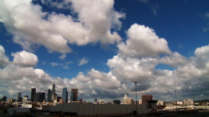 Cloudy LA Time-lapse, Wide