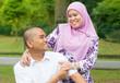 Asian Muslim couple