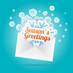 Season's Greetings Envelope