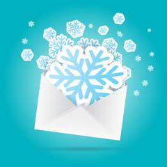 Snowflakes Envelope