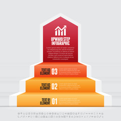 Upward Step Infographic