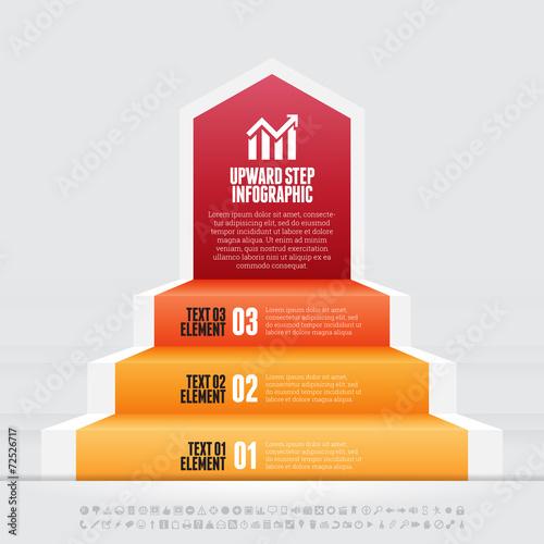 Upward Step Infographic