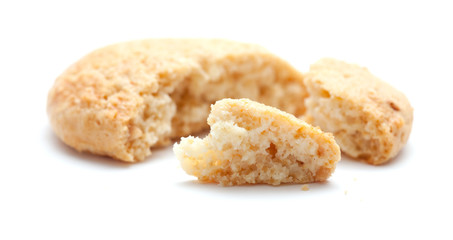 almond biscuits isolated on white