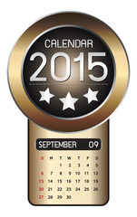 September calendar 2015 Fiber Background