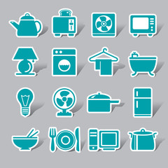 Houseware Color Icon Label