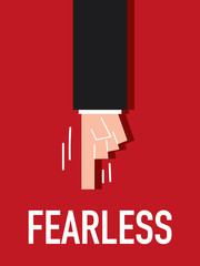 Word FEARLESS vector illustration