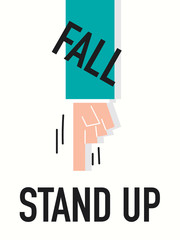 Word STAND UP vector illustration