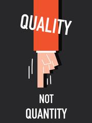 Word QUALITY vector illustration