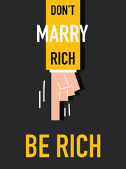 Word BE RICH vector illustration