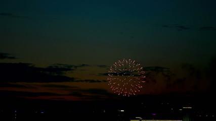 Evening fireworks