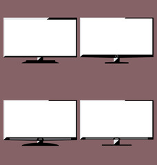 LCD television icons