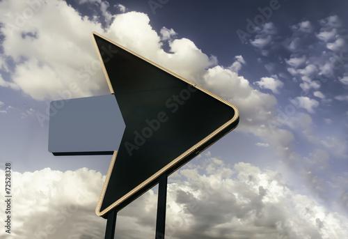 Foto op Canvas Las Vegas Retro vintage Route 66 Highway sign
