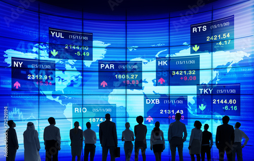 canvas print picture Stock Exchange Market Trading Concepts