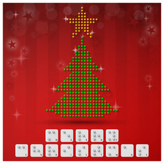 Braille Alphabet Christmas Background Banner With Paper Graphic