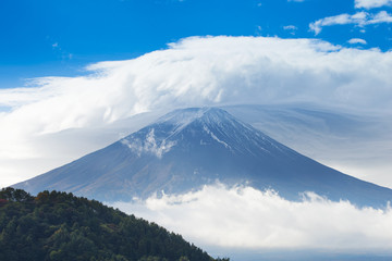 Mt. Fuji in the clouds