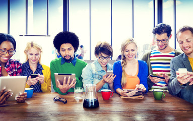 People Digital Devices Wireless Communication