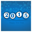 New year 2015 in blue background. Clip-art
