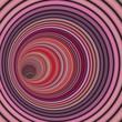 3d render tunnel vortex in multiple pink striped color