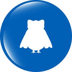 Owl - icon isolated on white background