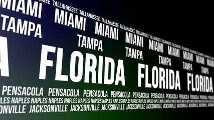 Florida State and Major Cities Scrolling Banner
