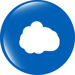 cloud icon web button isolated on white background
