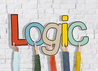 Logic Reason Thought Arms Holding White Bricks