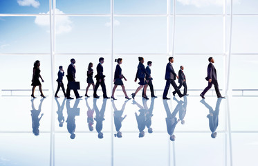 Business People Walking Office Concepts