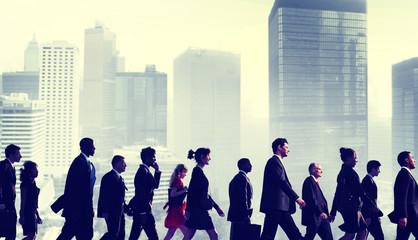 Business People Commuter Walking City Concepts