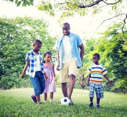 Family Bonding Recreation Sports Football Concepts