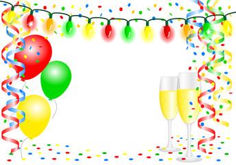 Party Hintergrund mit Luftballons und Textfreiraum